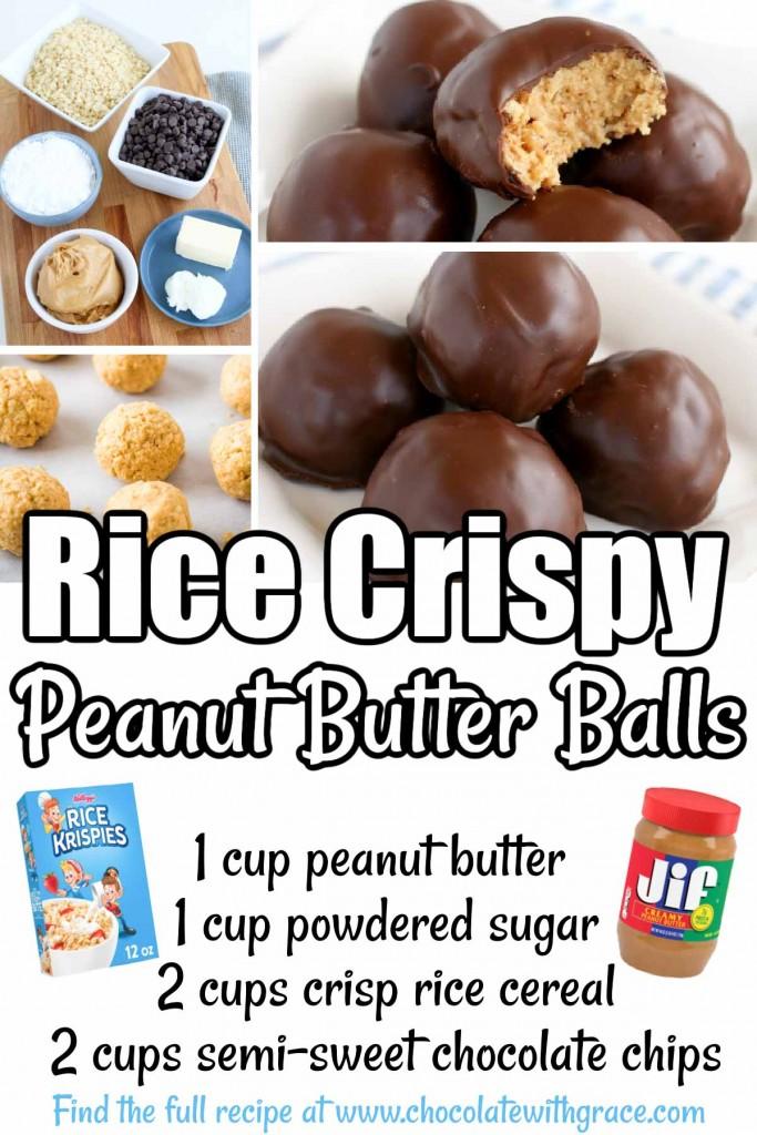 Rice Krispy Peanut Butter Balls
