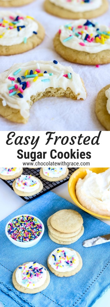 Soft and Easy frosted sugar cookies