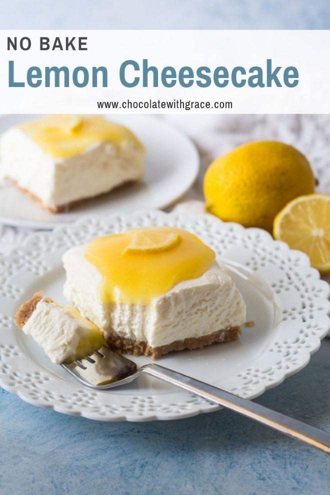 no bake lemon cheesecake with graham cracker crust