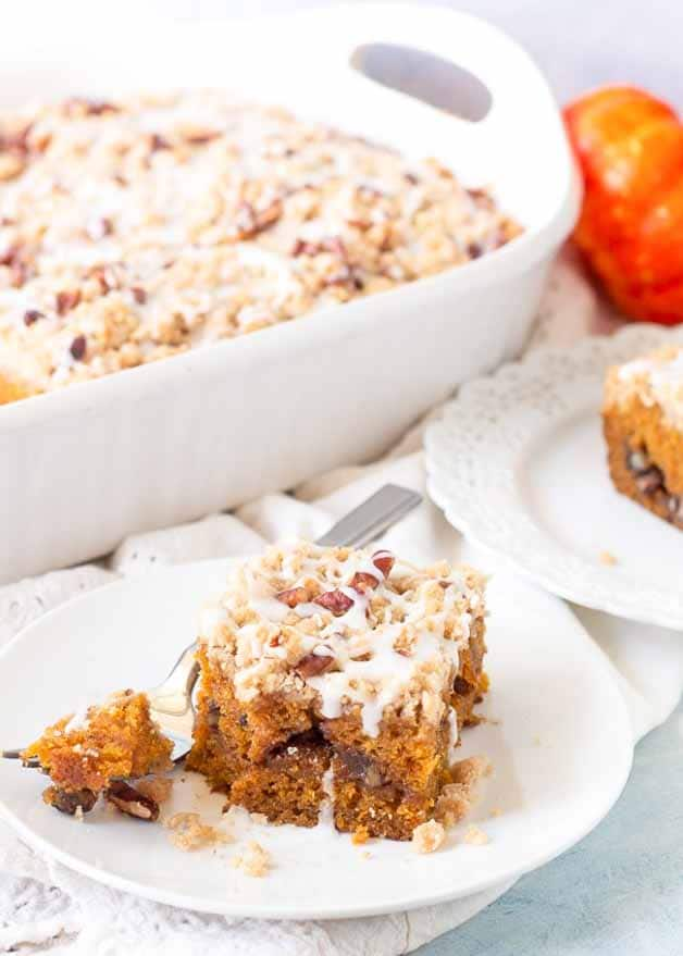 Pumpkin Streusel Cake Recipe