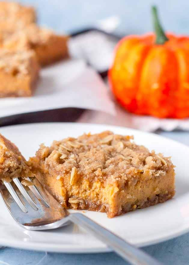 Streusel lover's pumpkin bars are a fall favorite.