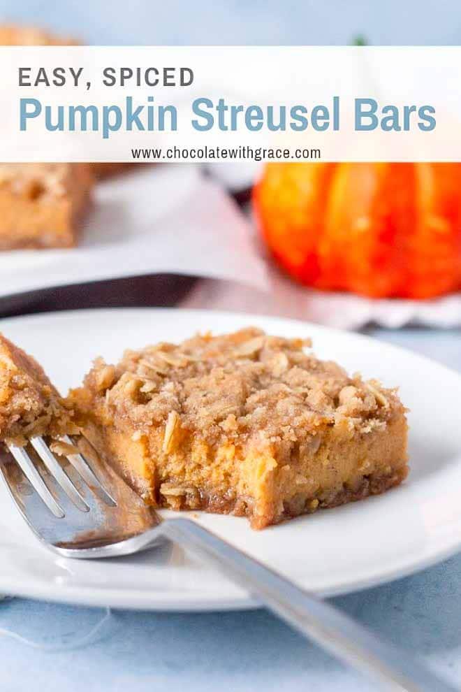 Easy Pumpkin Streusel Bars