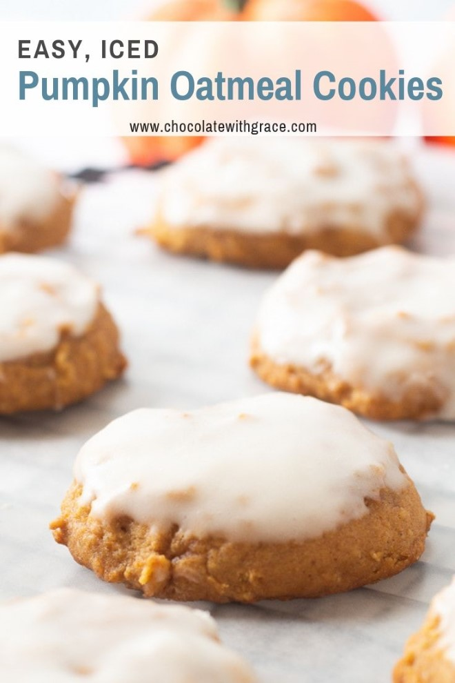 pumpkin oatmeal cookies with frosting