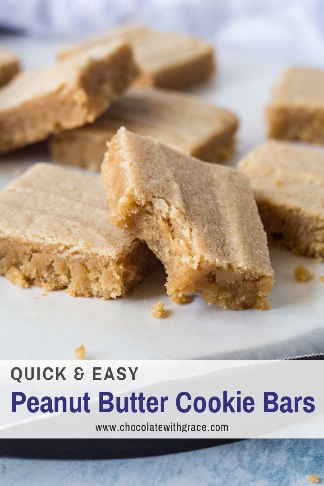 thick and chewy peanut butter cookie bars