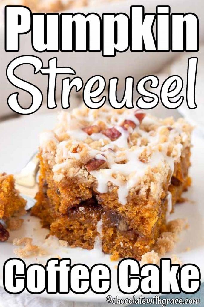 Glazed Pumpkin Streusel Coffee Cake