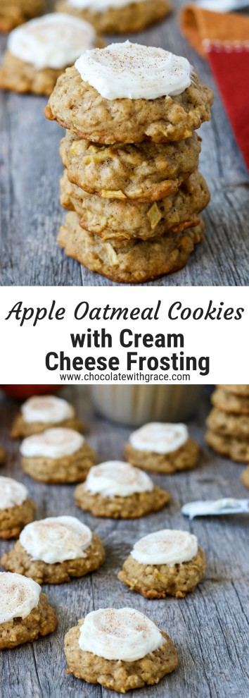 Baked apple cookie recipes with fresh apples with topping, ready to be eaten or shared!