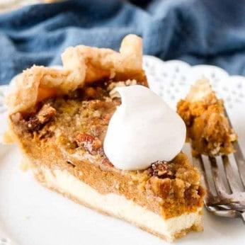 Layered Pumpkin Cheesecake Pie