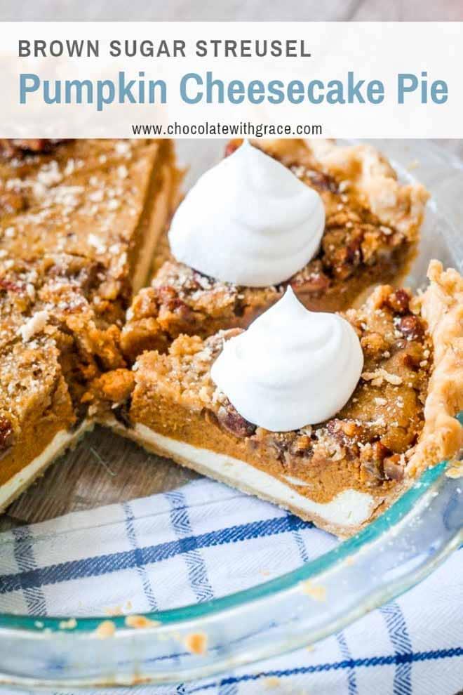 Pumpkin Cheesecake Pie with Streusel