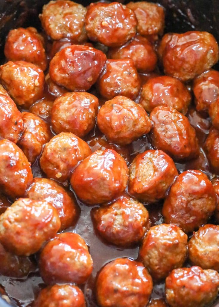 Sweet and Sour Meatballs in the crockpot