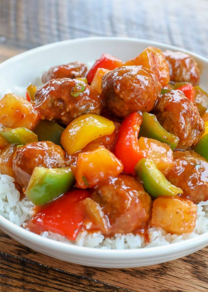 Crockpot Meatballs in a Sweet and Sour Sauce