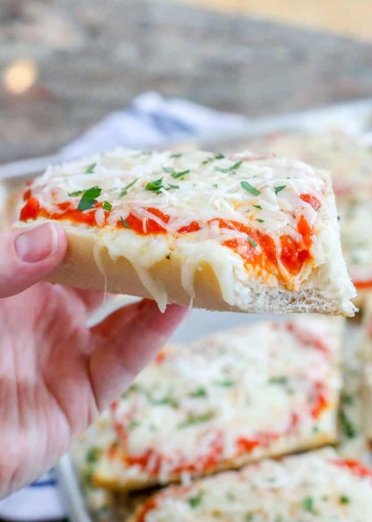 Crisp, chewy, cheesy French Bread Pizza