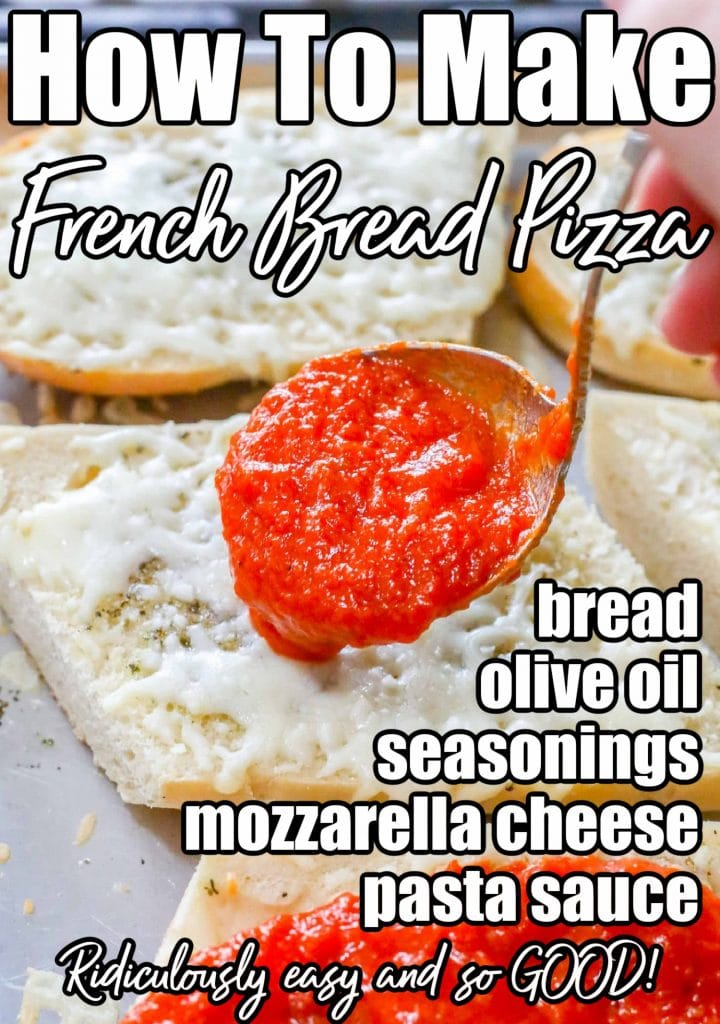 French Bread Pizza Ingredient List