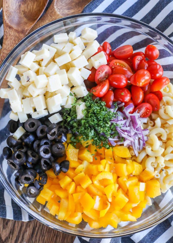 Potluck Pasta Salad is a mayo-free classic