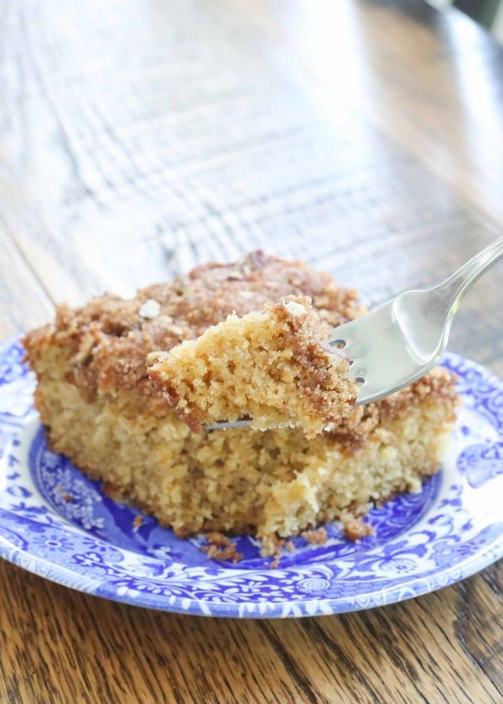 Cinnamon Pecan Overnight Coffee Cake