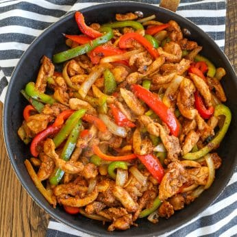 Quick and Easy Chicken Fajitas - with just five ingredients