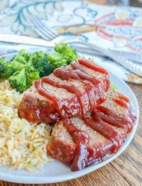 BBQ Meatloaf is an EASY dinner favorite