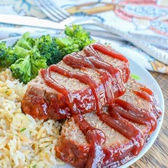 BBQ Meatloaf is an EASY dinner favorite