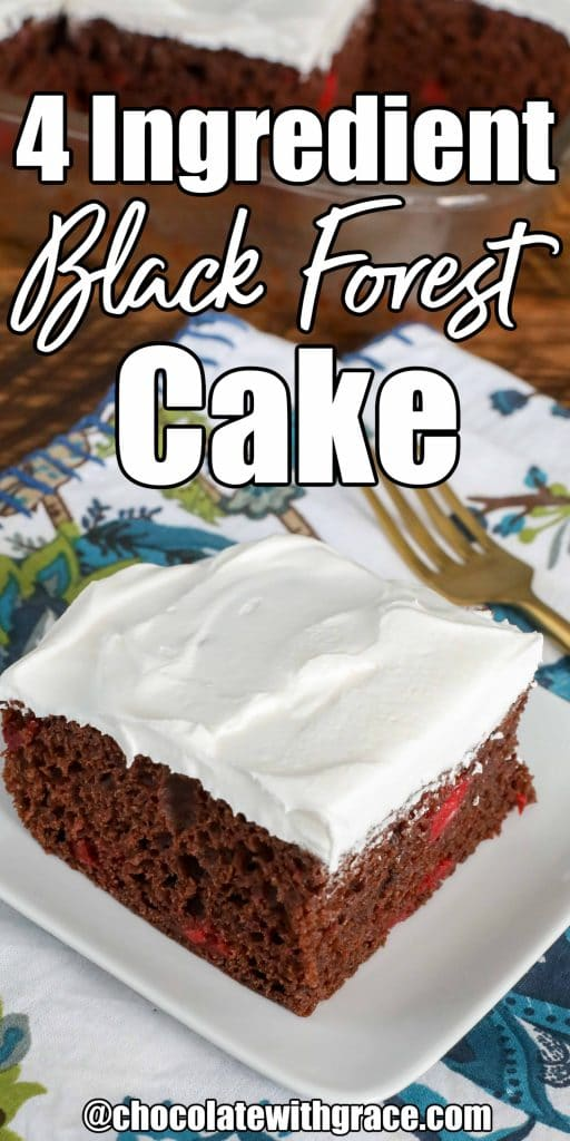 4 Ingredient Easy Black Forest Cake