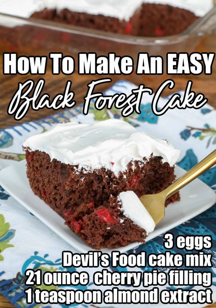 How To Make An Easy Black Forest Cake - ingredient list